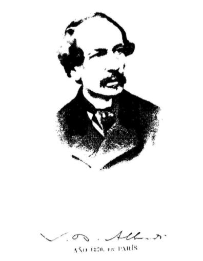 ALBERDI retrato y firma