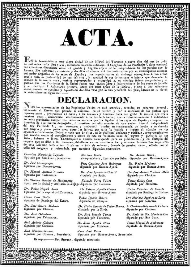 ARGENTINA INDEPENDENCIA Acta 01